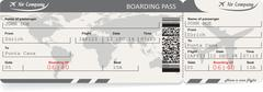 Pattern of airline boarding pass ticket Stock Illustration