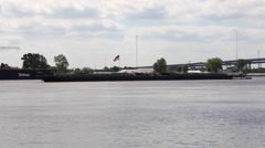 Cargo Ship Mississippi River New Orleans Stock Footage