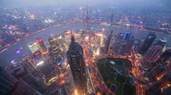 Time lapse looking down to Jin Mao tower in Shanghai China. - stock footage