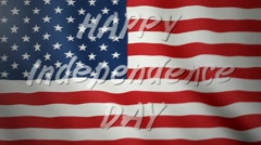 Happy Independence Day in America Stock Footage