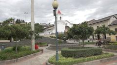 Plaza San Blas in the afternoon in Quito, Ecuador Stock Footage