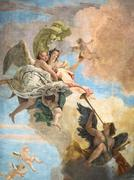 """Detail of the fresco """"the triumph of Virtue and Intelligence on Error"""" by Gia - stock photo"""