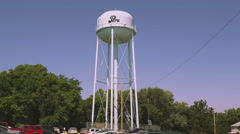 Static shot of water tower in Nemaha County, Nebraska. Stock Footage