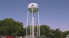 Stock Video Footage of Static shot of water tower in Nemaha County, Nebraska.