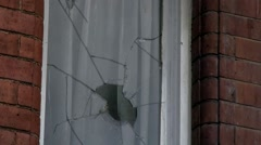 Abandoned House with broken windows #7 Stock Footage