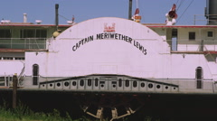 Static view of ship Captain Meriwether Lewis. Stock Footage