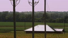 Stock Video Footage of Panning view of the landscape near Auburn Nebraska.