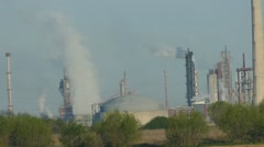 Smoke Out Of The Factory -  Smoke - Real time Stock Footage