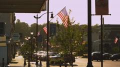 Stock Video Footage of Slow motion static shot of Plattsmouth Nebraska