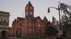 Static view of the Cass County Courthouse. Stock Footage
