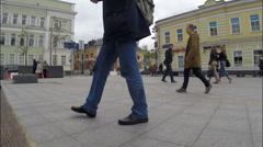 Metro Tretyakovskaya. View Bolshaya Ordynka  in Moscow, Russia Stock Footage