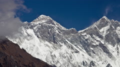 Time-lapse of clouds swirling around Mount Everest. Stock Footage