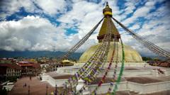 Time-lapse of Boudhanath Stupa in Boudha, Nepal. Stock Footage