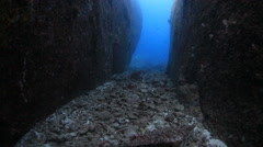 Valley underwater crevice smooth  - stock footage
