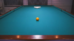 Snooker Billiards Pool Table Tilt Stock Footage