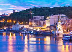 Evening scenery of Kyiv, Ukraine - stock photo