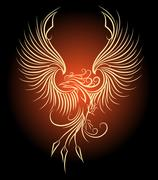 Phoenix in Flame Stock Illustration