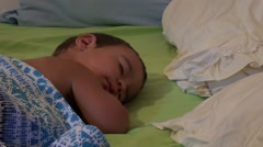 One and a half years old boy asleep Stock Footage