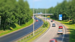 Busy highway timelapse Stock Footage