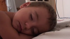 Sweet one and a half years old boy sleeps- Stock Footage