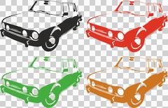 60s car transparent png Stock Illustration