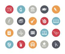 Education Icons // Classics Series Stock Illustration