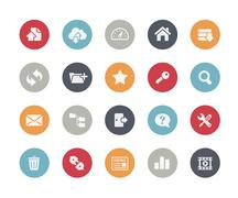 FTP and Hosting Icons // Classics Series - stock illustration