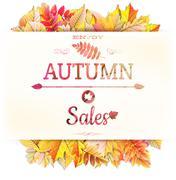 Autumnal fallen leafs. EPS 10 Stock Illustration