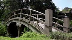 Richmond Virginia Maymont Park Wood Bridge Stock Footage