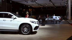 Mercedes-AMG GLE 63 Coupe crossover luxury SUV Stock Footage
