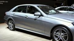 Mercedes-Benz E-Class  E220 Bluetec sedan - stock footage