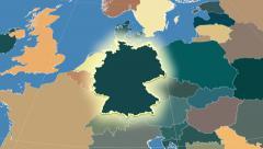 Germany. Neighbourhood. Administrative - stock footage