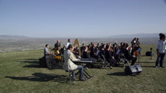 Outdoor Orchestra - stock footage