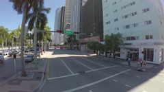 Driving in Miami Downtown, Florida, USA Stock Footage