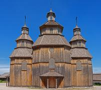 Old wooden church Stock Photos