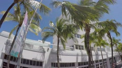 Driving on the famous Collins Ave in South Beach, Miami, Florida Stock Footage
