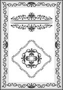 Stock Illustration of Frame with details of the ethnic ornament
