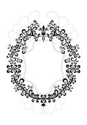 Stock Illustration of Frame of decorative vintage ornament.