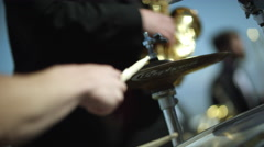Outdoor Orchestra - Drummer Stock Footage