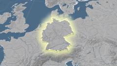 Germany. Neighbourhood. Elevation - stock footage