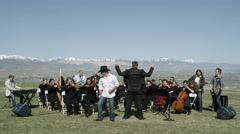Outdoor Orchestra Stock Footage