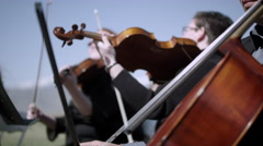 Outdoor Orchesta - Strings Stock Footage