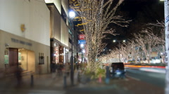 Street level time lapse of holiday shoppers in Omotesando - stock footage