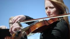 Outdoor Orchestra - Violin - stock footage