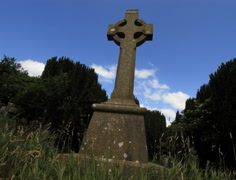 Celtic Cross Ireland Timelapse in 4K and HD Stock Footage