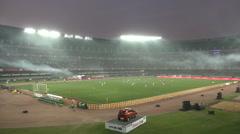 Atletico de Kolkata football stadium, match against FC Goa Stock Footage