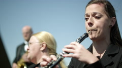 Outdoor Orchestra - Oboe Stock Footage