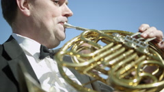 Outdoor Orchestra - Brass Instruments Stock Footage