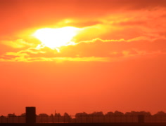 Gorgeous Sun set over the City in 4K and HD Stock Footage