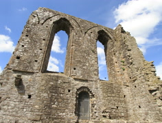 Ruined Abbey in Ireland Timelapse in 4K and HD - stock footage